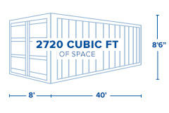 40-foot standard dry shipping container specifications