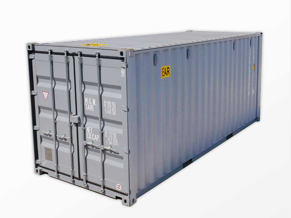 20-foot double-door shipping containers for sale
