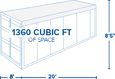 20ft. Open-Top Container