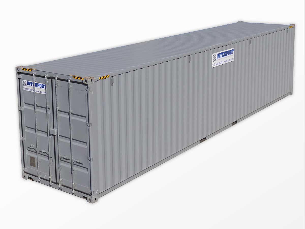 40 Foot High Cube Storage Containers for Rent in NJ Interport