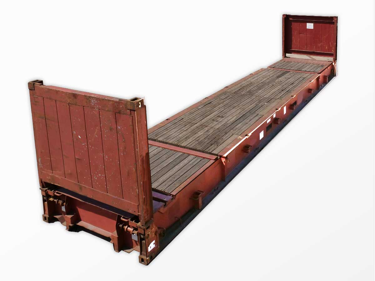 40 foot collapsible flat rack containers new used interport. Black Bedroom Furniture Sets. Home Design Ideas