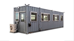 modified shipping containers for perimeter security
