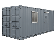 Interport can customize shipping containers to conform with any specifications. In addition to popular modifications such as office containers, doors and windows, and painting, we can custom-build your designs.