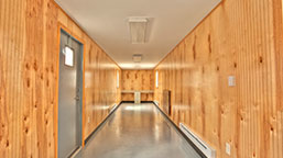 shipping container interior finishing