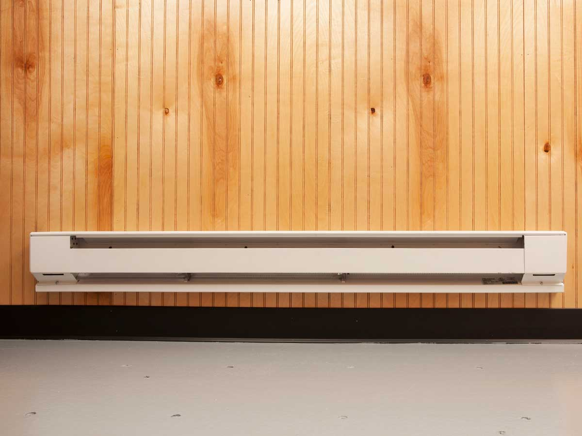 shipping container baseboard heating