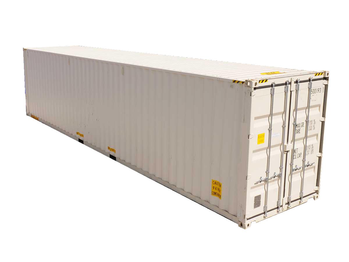 40ft high cube double-door container